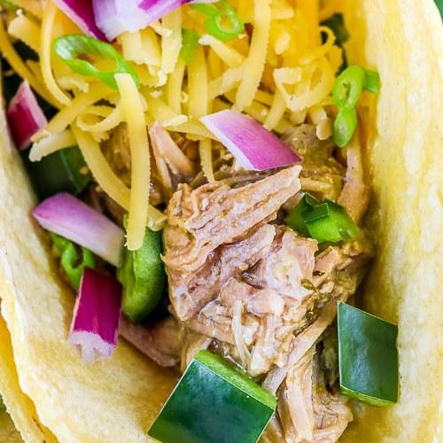 Instant Pot Green Chile Pork Tacos (Gluten Free)