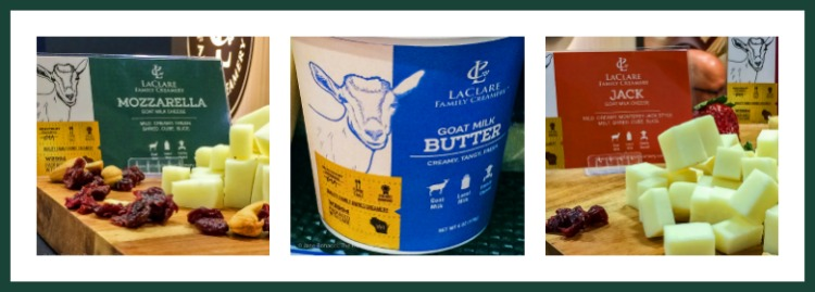 LaClare Family Creamery products; Walking the San Francisco Winter Fancy Food Show 2018 © 2018 Jane Bonacci, The Heritage Cook