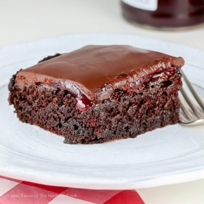 Chocolate Raspberry Sheet Cake (Gluten-Free)