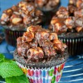 Rocky Road Chocolate Cupcakes with Ganache Frosting © 2018 Jane Bonacci, The Heritage Cook