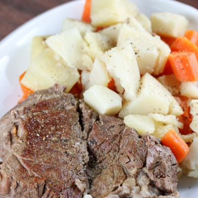 Instant Pot Chuck Roast with Potatoes and Carrots (Gluten-Free)