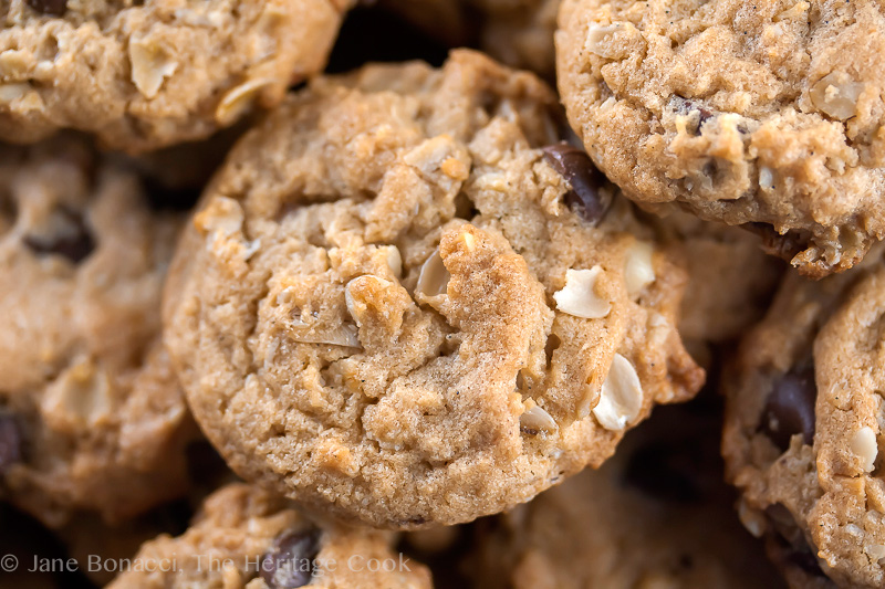 Chewy Oatmeal Chocolate Chip Cookies © 2018 Jane Bonacci, The Heritage Cook