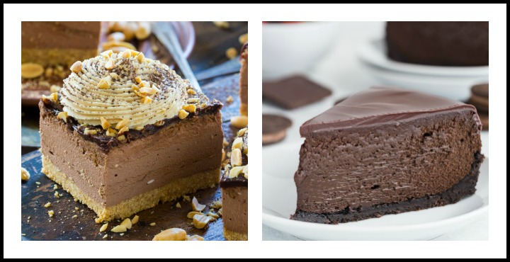 Peanut Butter Cheesecake & Triple Chocolate Cheesecake; 8 Succulent Chocolate Cheesecakes; compiled by Jane Bonacci, The Heritage Cook 2018