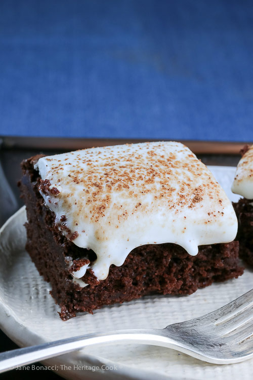 Brownies with Cheesecake Frosting (Gluten Free) © 2018 Jane Bonacci, The Heritage Cook