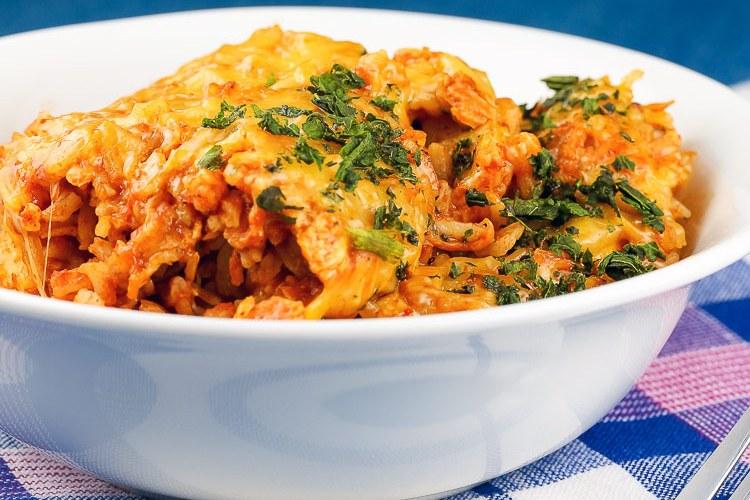 Instant Pot Chicken Enchilada Rice Casserole (Gluten Free)
