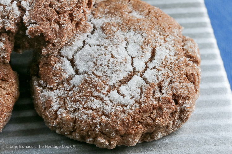 Sugared Chocolate Cookies © 2018 Jane Bonacci, The Heritage Cook