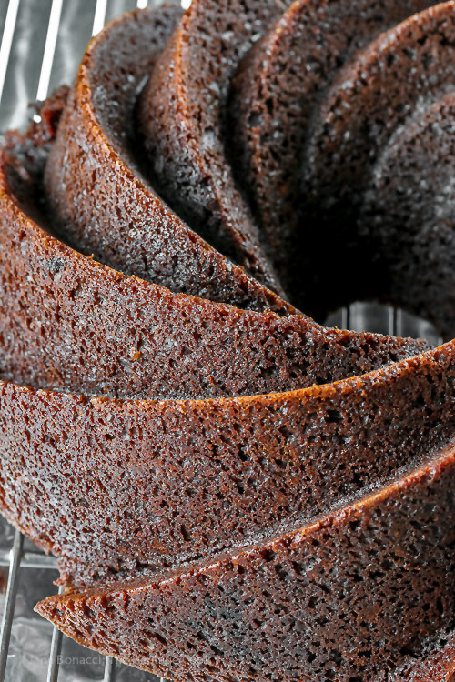 hot from the oven, unglazed Deep Chocolate Zebra Cake (Gluten-Free) © 2018 Jane Bonacci, The Heritage Cook
