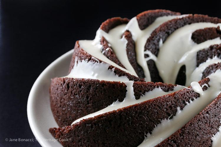 Deep Chocolate Zebra Cake (Gluten-Free) © 2018 Jane Bonacci, The Heritage Cook