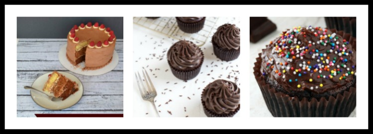 Collage 2 12 Terrific Chocolate Cakes and Cupcakes; Assembled by Jane Bonacci, The Heritage Cook 2018
