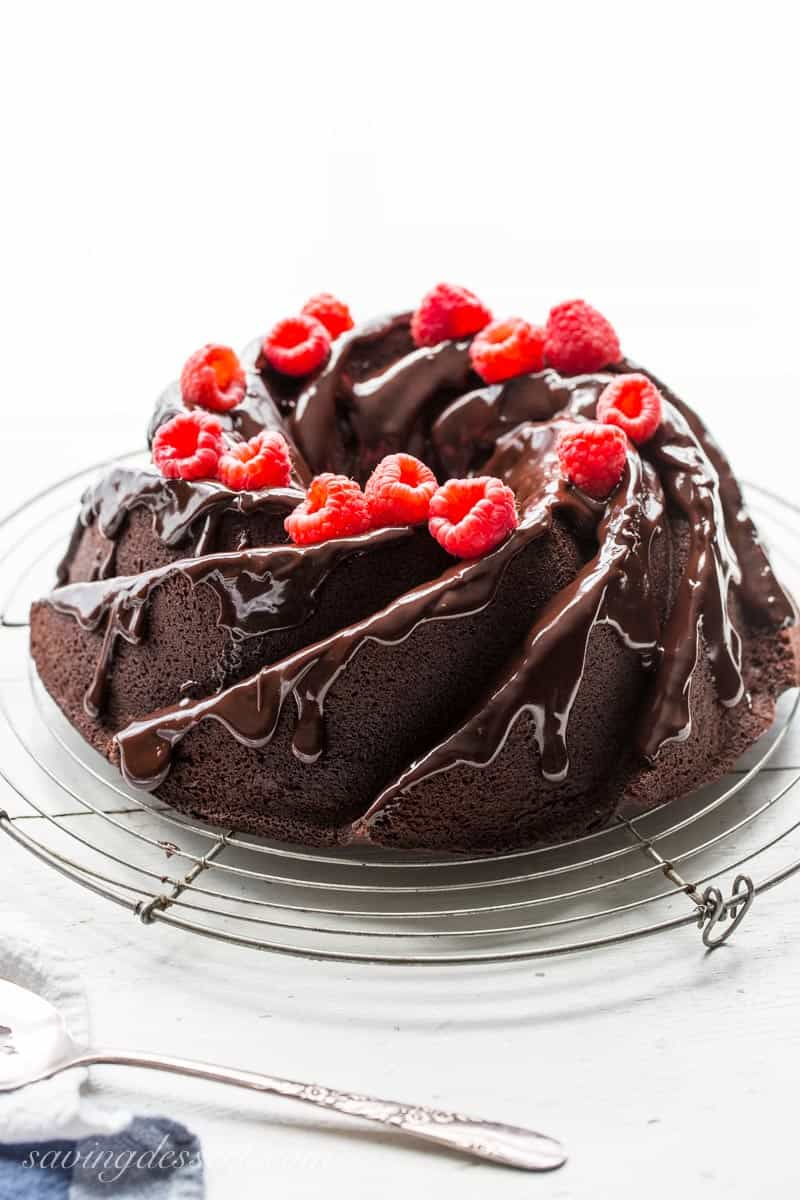 Chocolate Bundt Cake; 12 Terrific Chocolate Cakes and Cupcakes; Assembled by Jane Bonacci, The Heritage Cook 2018
