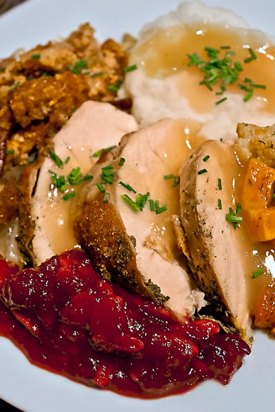 Plate of Thanksgiving dinner; 15 Favorite Thanksgiving Recipes for 2018 © Jane Bonacci, The Heritage Cook