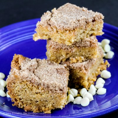 White Chocolate Snickerdoodle Bars – Gluten Free