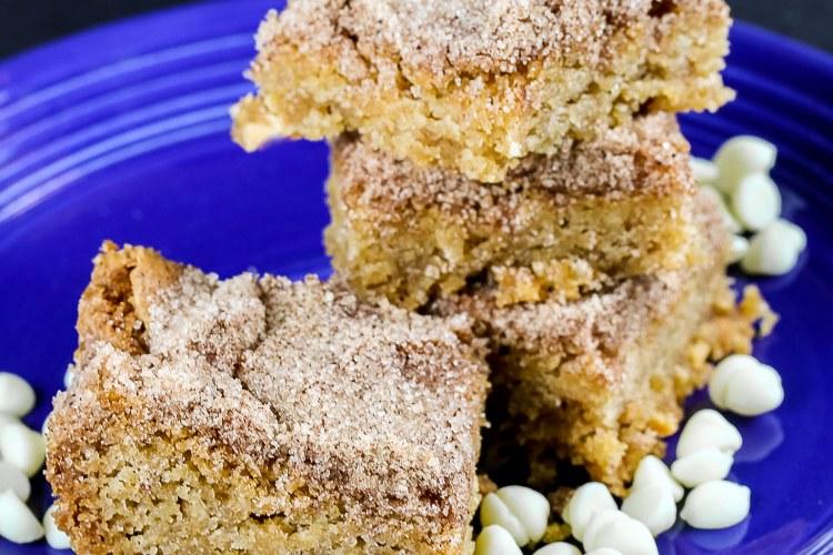 White Chocolate Snickerdoodle Bars – Gluten Free