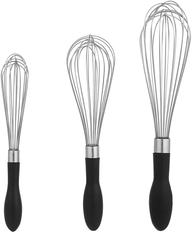 set of 3 whisks; A dozen gift ideas for the cooks, bakers, and food lovers in your life 2018 compiled by Jane Bonacci, The Heritage Cook