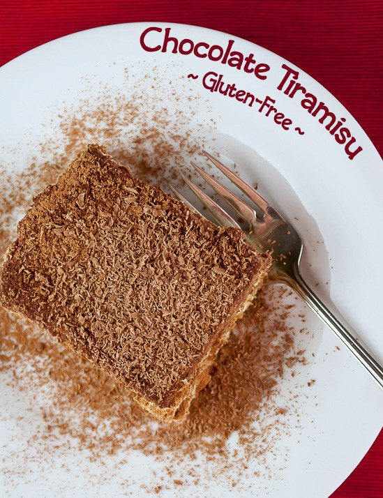 Gluten Free Chocolate Tiramisu; Top 15 Most Popular Chocolate Monday Recipes from The Heritage Cook 2018 Jane Bonacci, The Heritage Cook