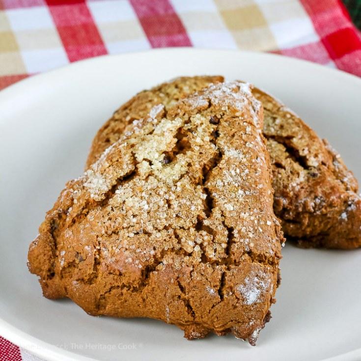 Gingerbread Chocolate Chip Scones (Gluten Free)