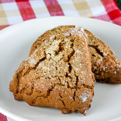 Gingerbread Chocolate Chip Scones (Gluten Free)