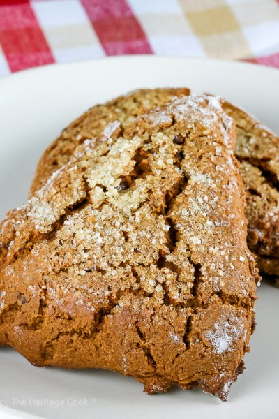Gingerbread Chocolate Chip Scones © 2018 Jane Bonacci, The Heritage Cook