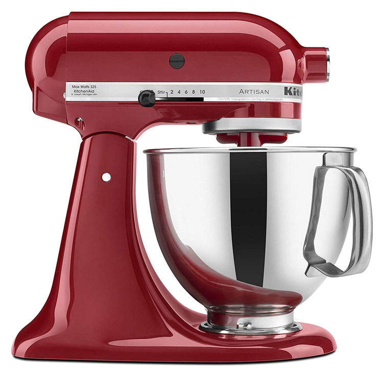 KitchenAid Mixer; A dozen gift ideas for the cooks, bakers, and food lovers in your life 2018 compiled by Jane Bonacci, The Heritage Cook