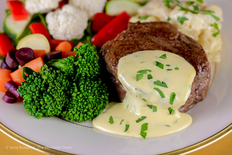 Holiday Foolproof Béarnaise Sauce (Gluten Free) © 2018 Jane Bonacci, The Heritage Cook