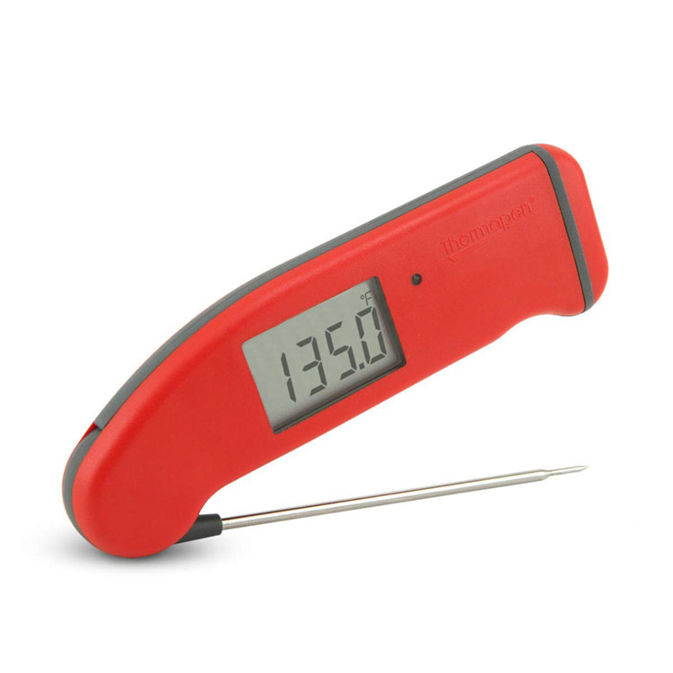Red Thermapen instant read thermometer; A dozen gift ideas for the cooks, bakers, and food lovers in your life 2018 compiled by Jane Bonacci, The Heritage Cook