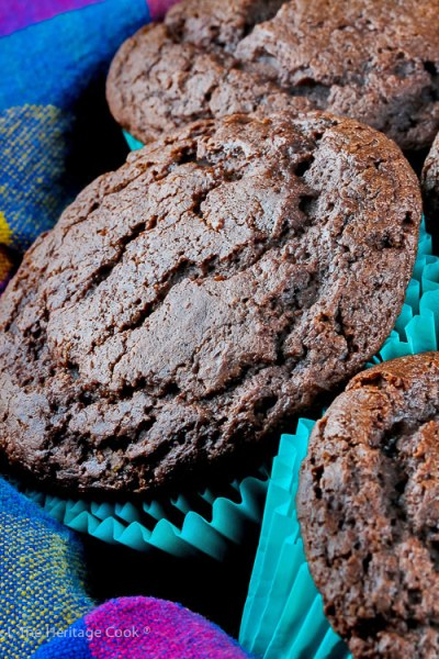 Gluten Free Chocolate Muffins © 2019 Jane Bonacci, The Heritage Cook