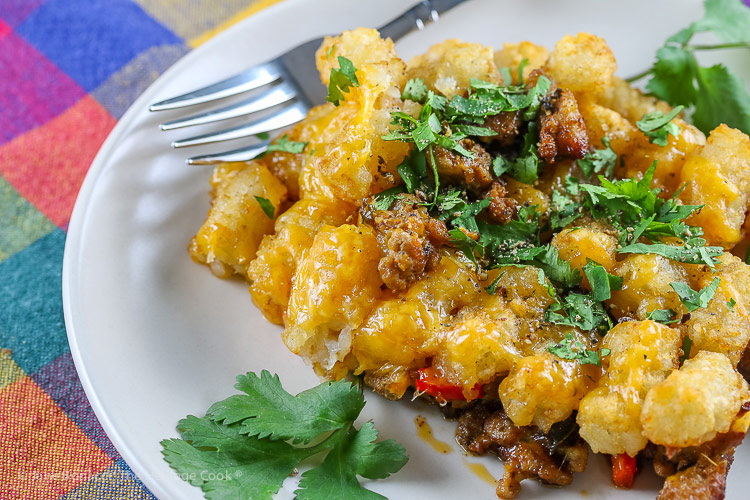 Breakfast Tater Tot Casserole © 2019 Jane Bonacci, The Heritage Cook