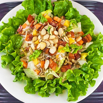 Chopped Meats and Cheese Salad (Gluten Free)