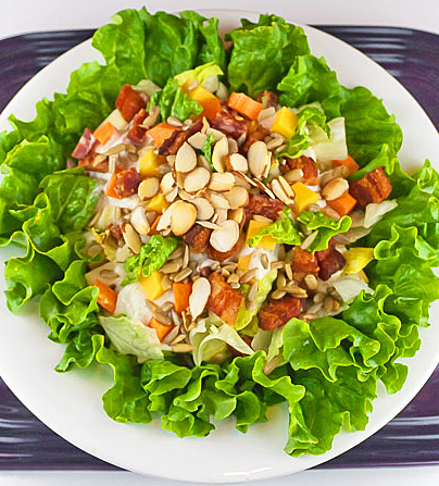 Gluten Free Chopped Meats and Cheese Salad with Ranch-Style Dressing © 2019 Jane Bonacci, The Heritage Cook