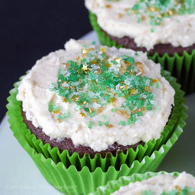 Decadent Chocolate Cupcakes with Vanilla Buttercream Frosting (Gluten Free) © 2019 Jane Bonacci, The Heritage Cook