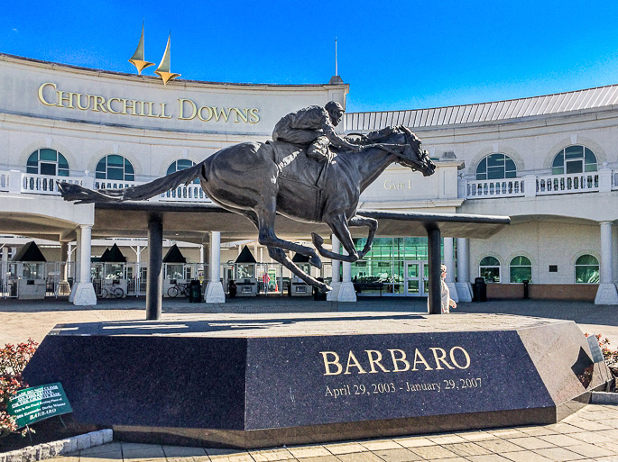 Entry to Churchill Downs; Jane Bonacci, The Heritage Cook