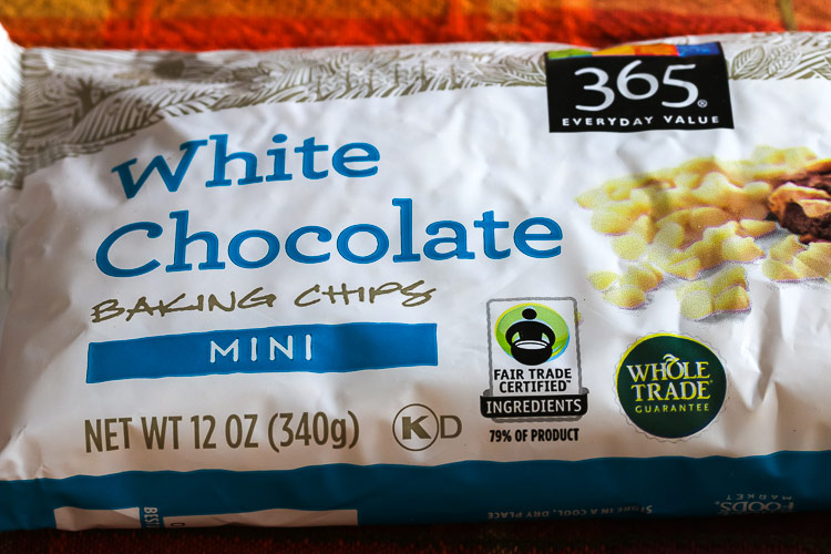 Mini white chocolate chips