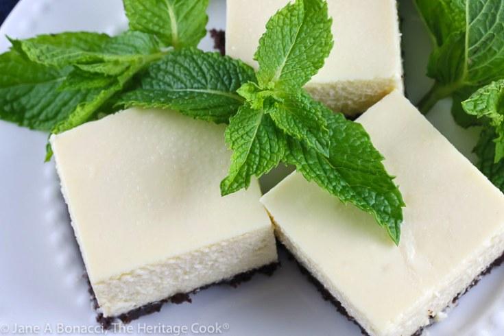 Cheesecake Bars with Chocolate Crust (Gluten Free)