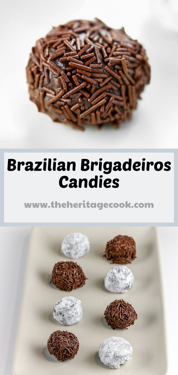 Brigadeiros - Brazilian Chocolate Candies covered in Jimmies © 2019 Jane Bonacci, The Heritage Cook