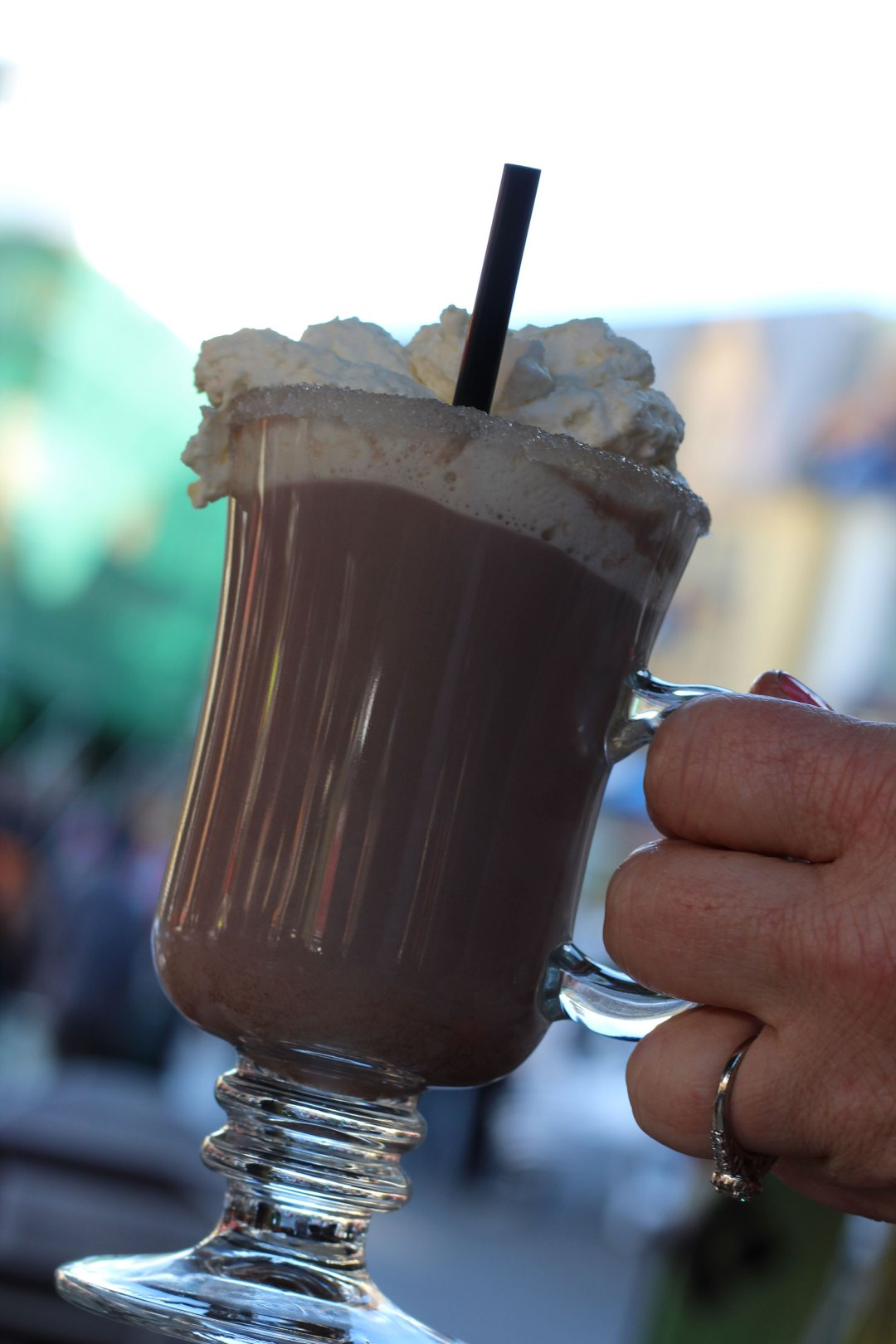 raspberry truffle hot chocolate