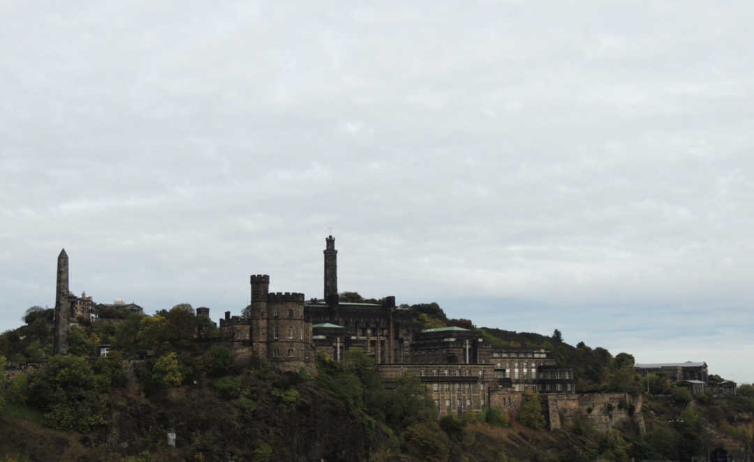 calton hill from old town