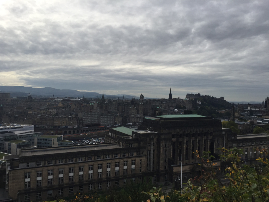 scottish government building from calton hill