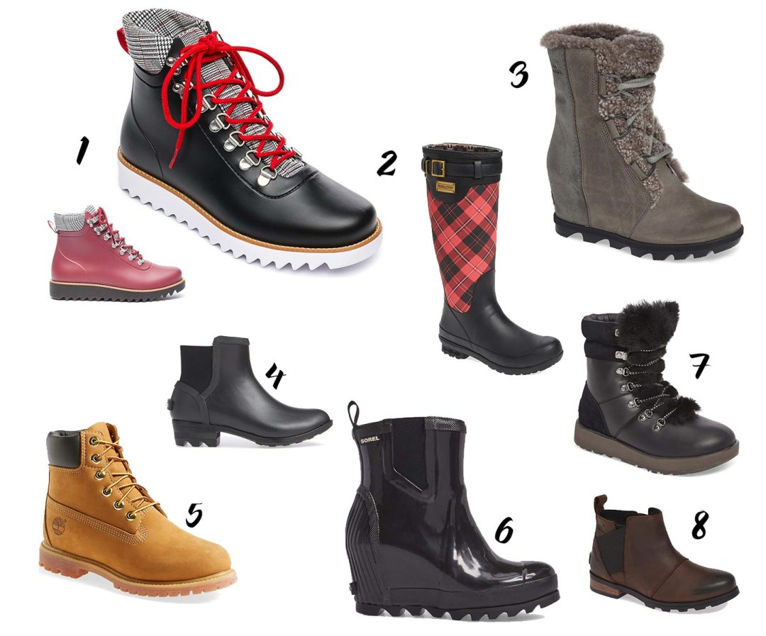 8 women's rain boots for fall