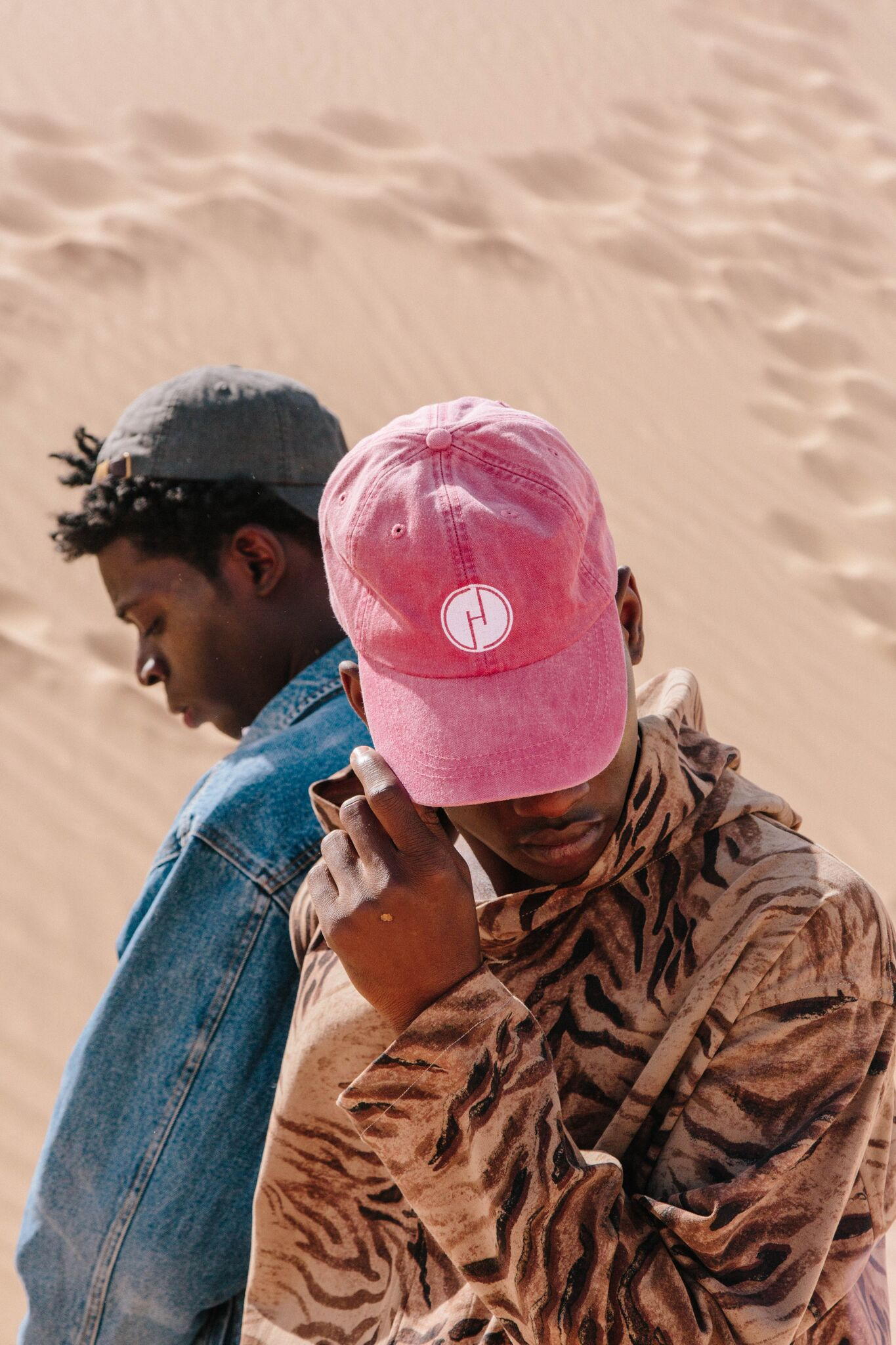 instagram for business two men pink hat