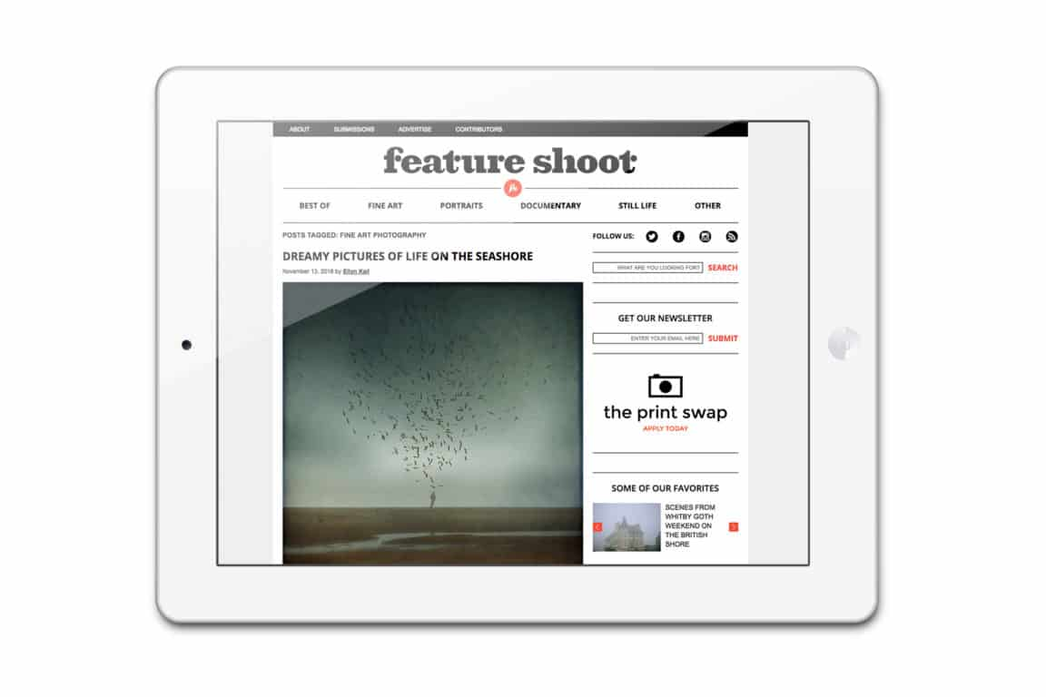 Feature Shoot accepts submissions from all areas of photography from  advertising to still life as well as from beginning to professional  photographers.