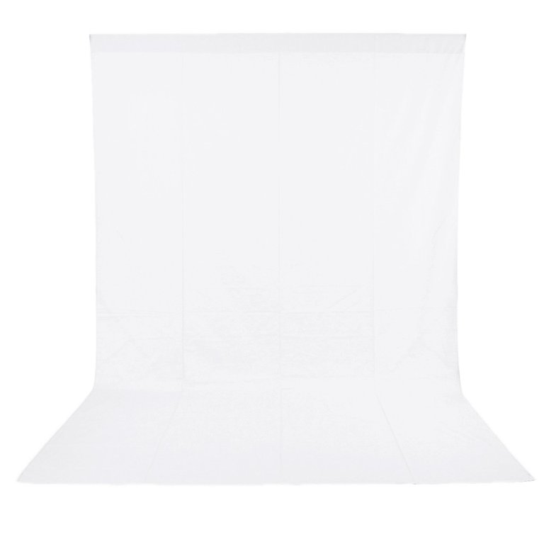 Neewer 6 x 9FT / 1.8 x 2.8M Photo Studio 100% Pure Muslin Collapsible Backdrop Background for Photography,Video and Televison (Background ONLY) – White