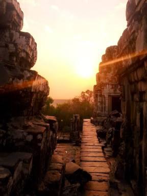 Sunset in Angkor