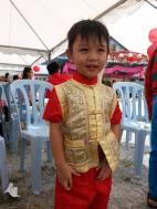 Young Chinese Malaysian celebrating Chinese New Year