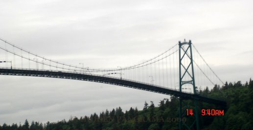 Lions Gate Bridge view from North Vancouver District