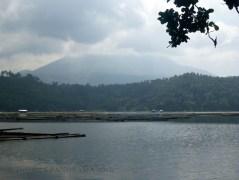 Calibato Lake with Mount Banahaw