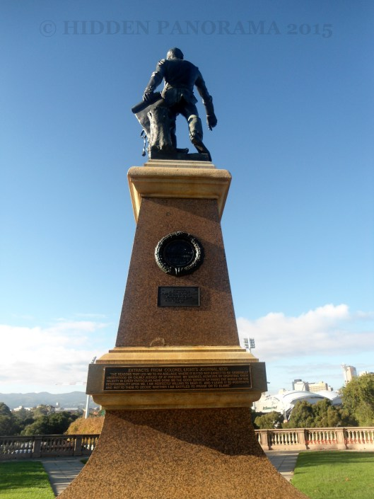 Statue of Colonel Lights in Colonel Lights Lookout at Montefiore Hill