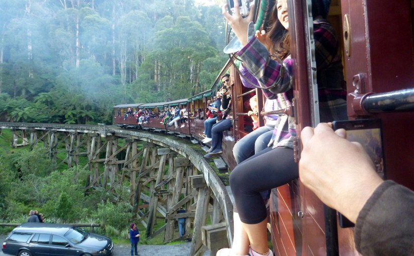 Blissful Second : Puffing Billy Steam Train Ride Moment