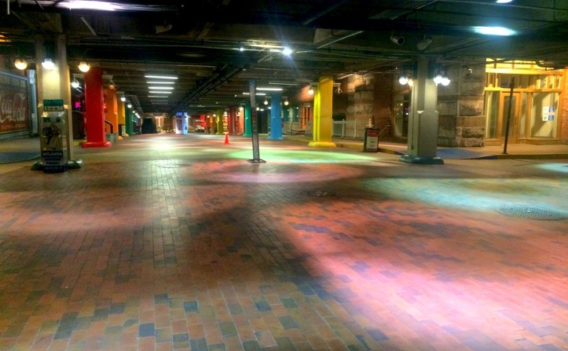 Colors : Lower Pryor Street – Underground Atlanta