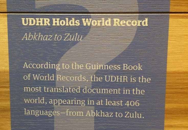Discovery : Universal Declaration of Human Rights (UDHR) Holds World Record