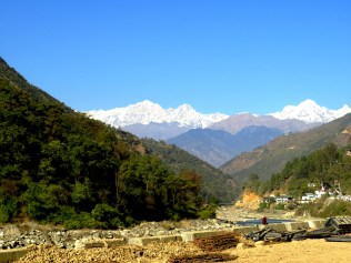 First glimpse of snow clad Mountains